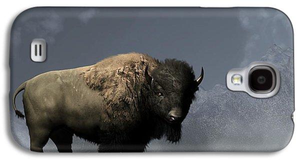 Lonely Bison Galaxy S4 Case by Daniel Eskridge