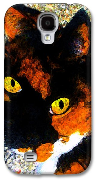 Looking Cat Galaxy S4 Case by David Lee Thompson