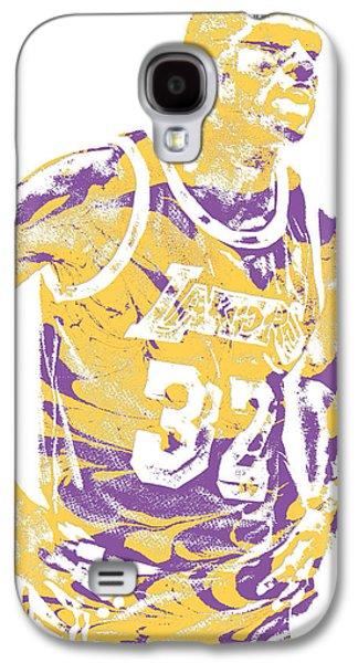 Magic Johnson Galaxy S4 Case - Magic Johnson Los Angeles Lakers Pixel Art 6 by Joe Hamilton