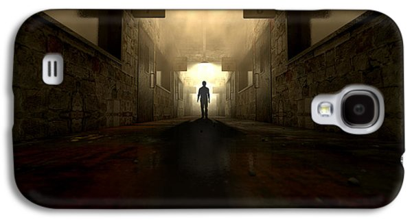 Mental Asylum With Ghostly Figure Galaxy S4 Case by Allan Swart