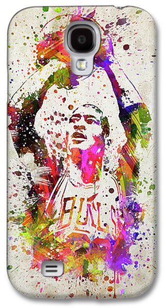 Michael Jordan In Color Galaxy S4 Case