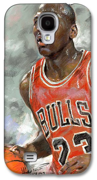 Nba Galaxy S4 Cases - Michael Jordan Galaxy S4 Case by Ylli Haruni