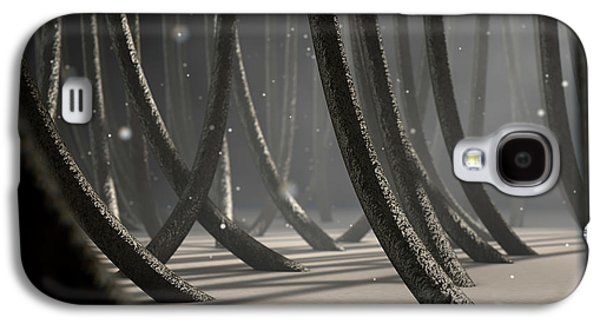 Microscopic Hair Fibers Galaxy S4 Case by Allan Swart