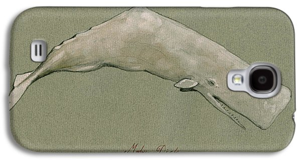 Moby Dick The White Sperm Whale  Galaxy S4 Case by Juan  Bosco