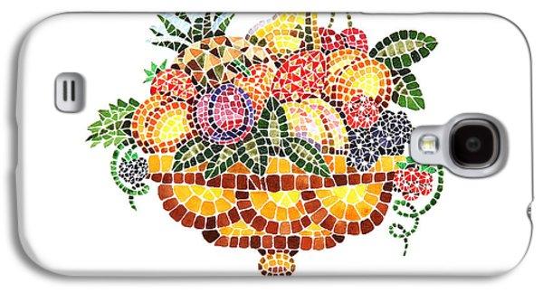 Mosaic Fruit Vase Galaxy S4 Case by Irina Sztukowski