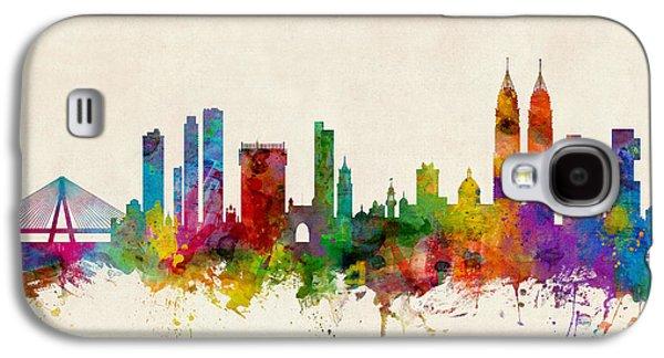 Mumbai Skyline India Bombay Galaxy S4 Case by Michael Tompsett