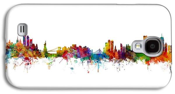 Boston Galaxy S4 Case - New York And Boston Skyline Mashup by Michael Tompsett