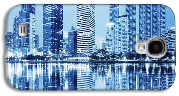 Night Scenes Of City Galaxy S4 Case by Setsiri Silapasuwanchai