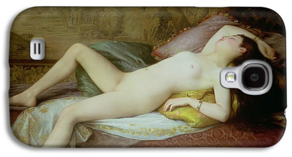Nudes Galaxy S4 Case - Nude Lying On A Chaise Longue by Gustave-Henri-Eugene Delhumeau