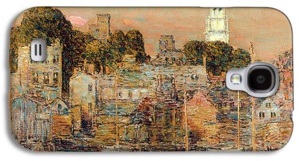 October Sundown Galaxy S4 Case by Childe Hassam