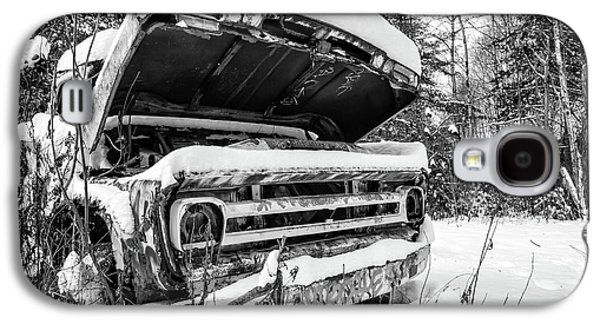 Old Abandoned Pickup Truck In The Snow Galaxy S4 Case