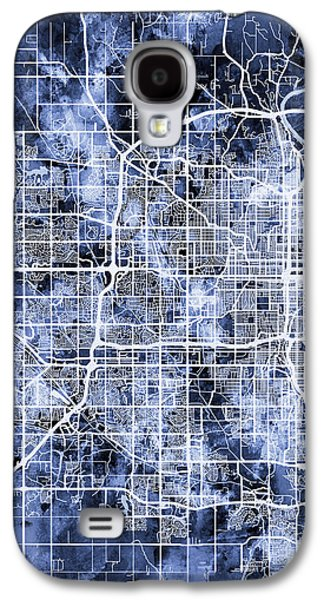 Nebraska Galaxy S4 Case - Omaha Nebraska City Map by Michael Tompsett