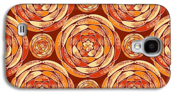 Orange Pattern Galaxy S4 Case by Gaspar Avila