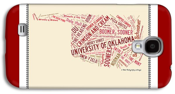Ou Word Art University Of Oklahoma Galaxy S4 Case