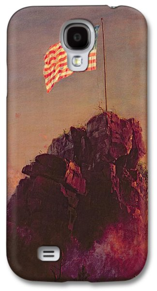 Patriotism Paintings Galaxy S4 Cases - Our Flag Galaxy S4 Case by Frederic Edwin Church