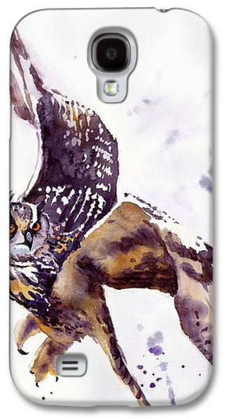 Pigeon Galaxy S4 Case - Owl Watercolor by Suzann's Art
