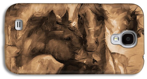 Pair Of Horses Galaxy S4 Case