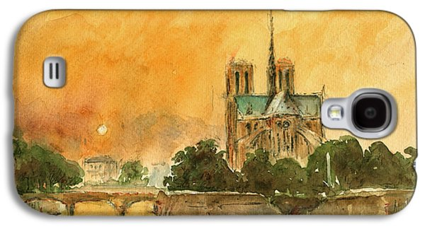 Paris Notre Dame Galaxy S4 Case by Juan  Bosco