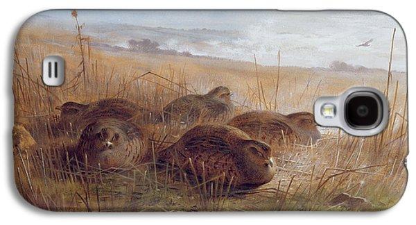 Partridges Galaxy S4 Case by Archibald Thorburn