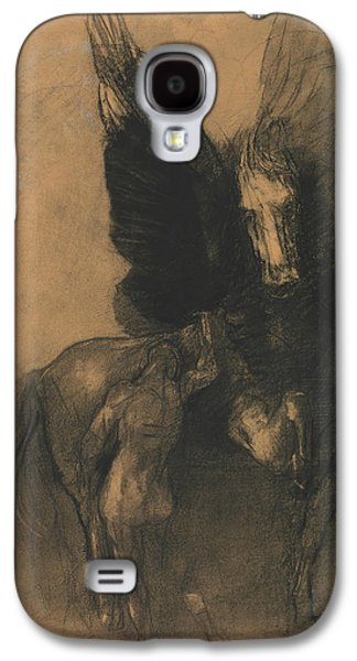 Pegasus And Bellerophon Galaxy S4 Case by Odilon Redon