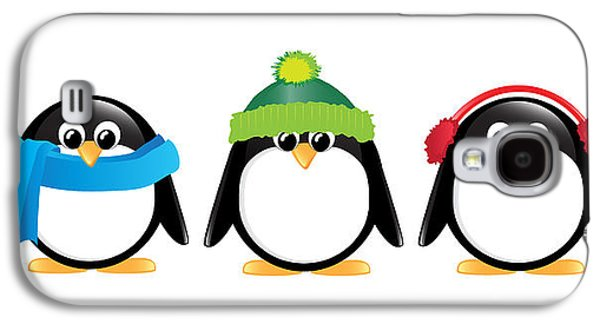 Winters Galaxy S4 Cases - Penguins isolated Galaxy S4 Case by Jane Rix