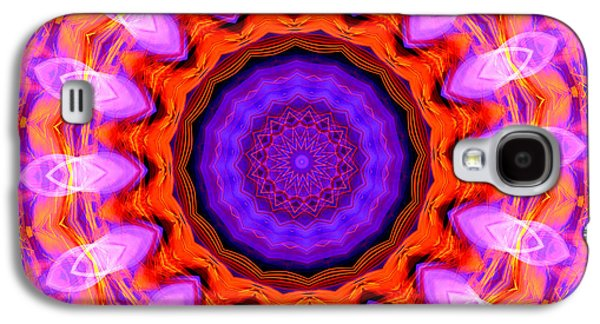 Pink 16-petals Kaleidoscope Galaxy S4 Case
