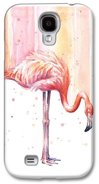Pink Flamingo - Facing Right Galaxy S4 Case