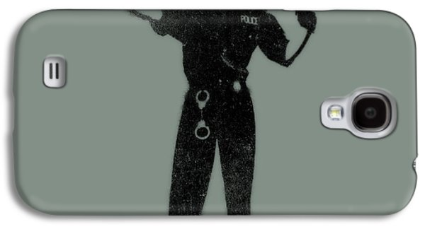 Dogs Digital Galaxy S4 Cases - Police Dog Galaxy S4 Case by Pixel  Chimp