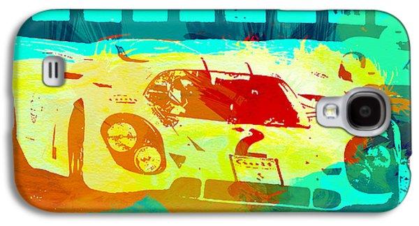 Porsche 917 Watercolor Galaxy S4 Case by Naxart Studio