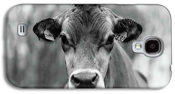 Galaxy S4 Case - Portrait Of A Dairy Cow In The Rain Stowe Vermont by Edward Fielding