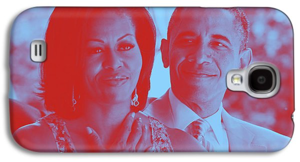Portrait Of Barack And Michelle Obama Galaxy S4 Case by Asar Studios