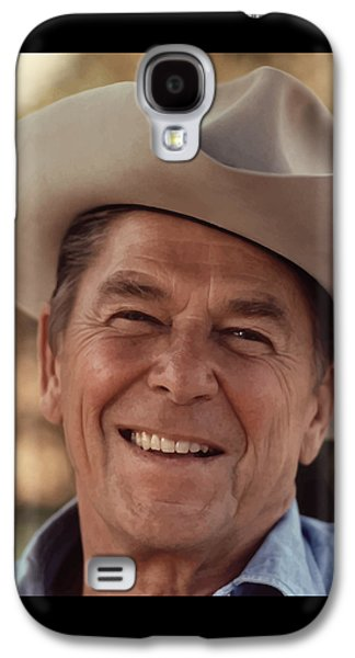 President Ronald Reagan Galaxy S4 Case by War Is Hell Store
