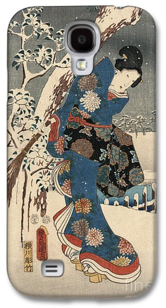 Print From The Tale Of Genji Galaxy S4 Case by Kunisada and Hiroshige