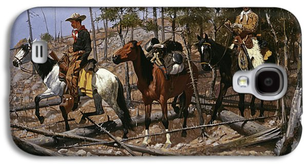 Prospecting For Cattle Range  Galaxy S4 Case by Frederic Remington