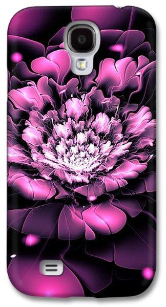 Purple Flower Galaxy S4 Case