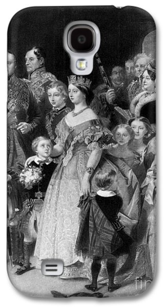 Queen Victoria With Members Of Royal Galaxy S4 Case by Science Source