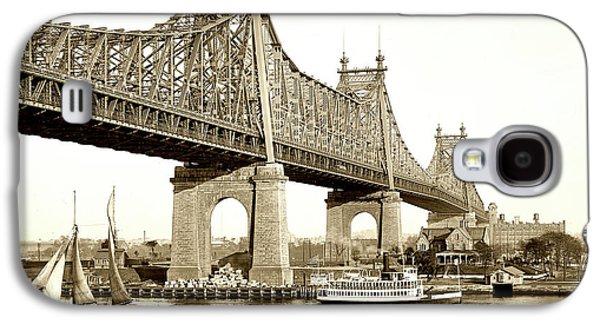 Queensboro Bridge - 1910 Galaxy S4 Case by L O C
