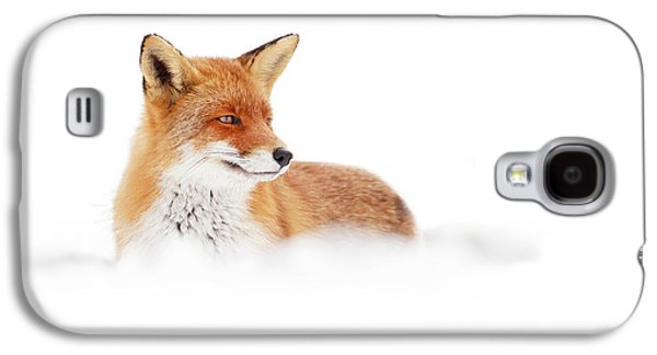 Red Fox In The White Snow Galaxy S4 Case
