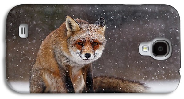Red Fox Sitting In The Snow Galaxy S4 Case