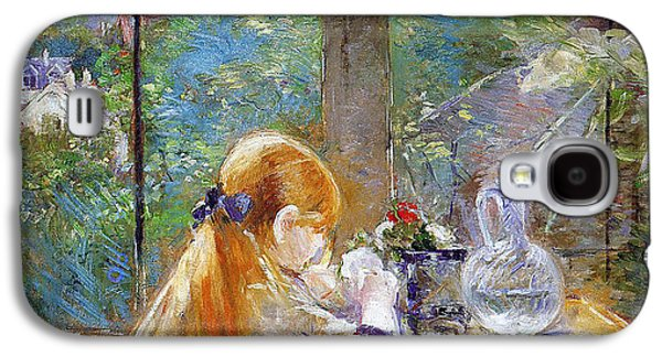 Red-haired Girl Sitting On A Veranda Galaxy S4 Case by Berthe Morisot