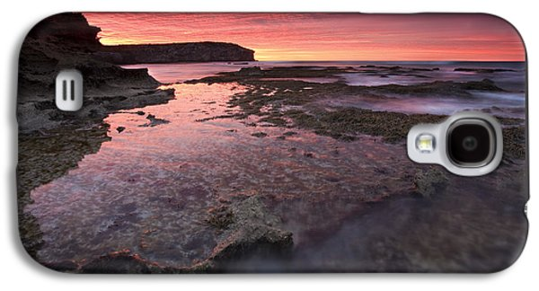 Kangaroo Galaxy S4 Case - Red Sky At Morning by Mike  Dawson