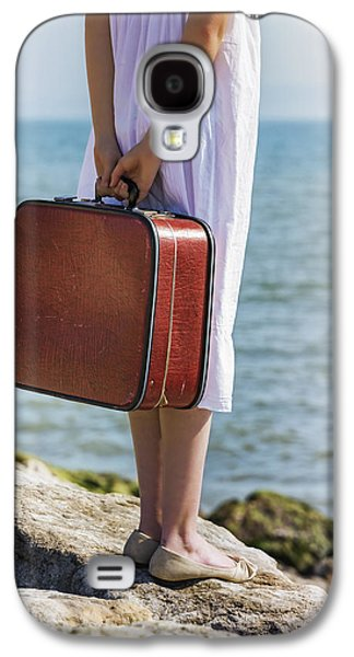 Red Suitcase Galaxy S4 Case by Joana Kruse