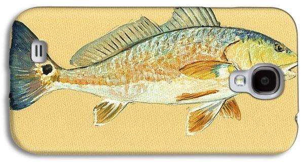 Redfish Painting Galaxy S4 Case by Juan  Bosco