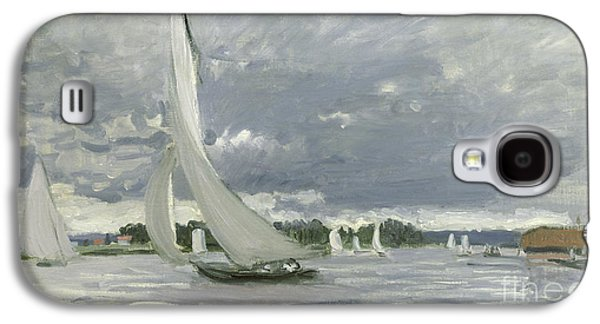 Regatta At Argenteuil Galaxy S4 Case by Claude Monet