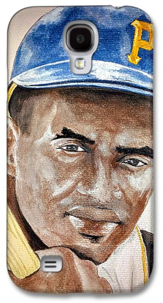 Roberto Clemente - Watercolor Painting Galaxy S4 Case
