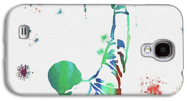 Rocky Balboa Paint Splatter Galaxy S4 Case by Dan Sproul
