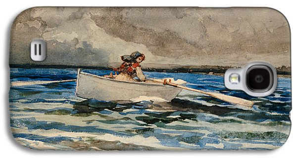 Rowing At Prouts Neck Galaxy S4 Case by Winslow Homer