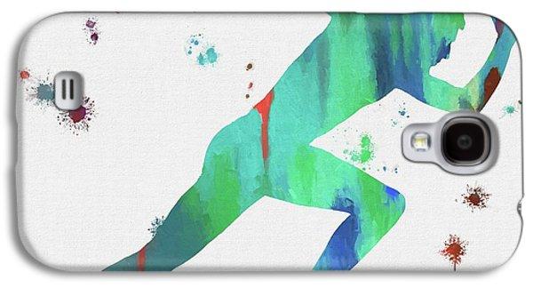 Running Man Paint Splatter Galaxy S4 Case