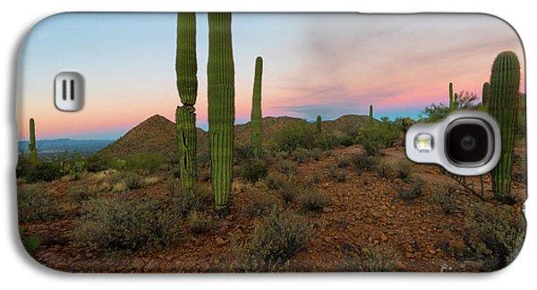 Saguaro Dusk Galaxy S4 Case by Mike Dawson