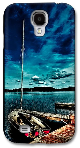 Sailboat At The Dock Galaxy S4 Case by David Patterson